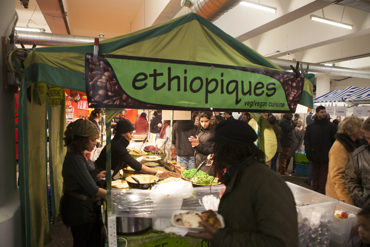 The market boasted an Ethiopian stall, which happened to have cous-cous - not sure how Ethiopian that is.