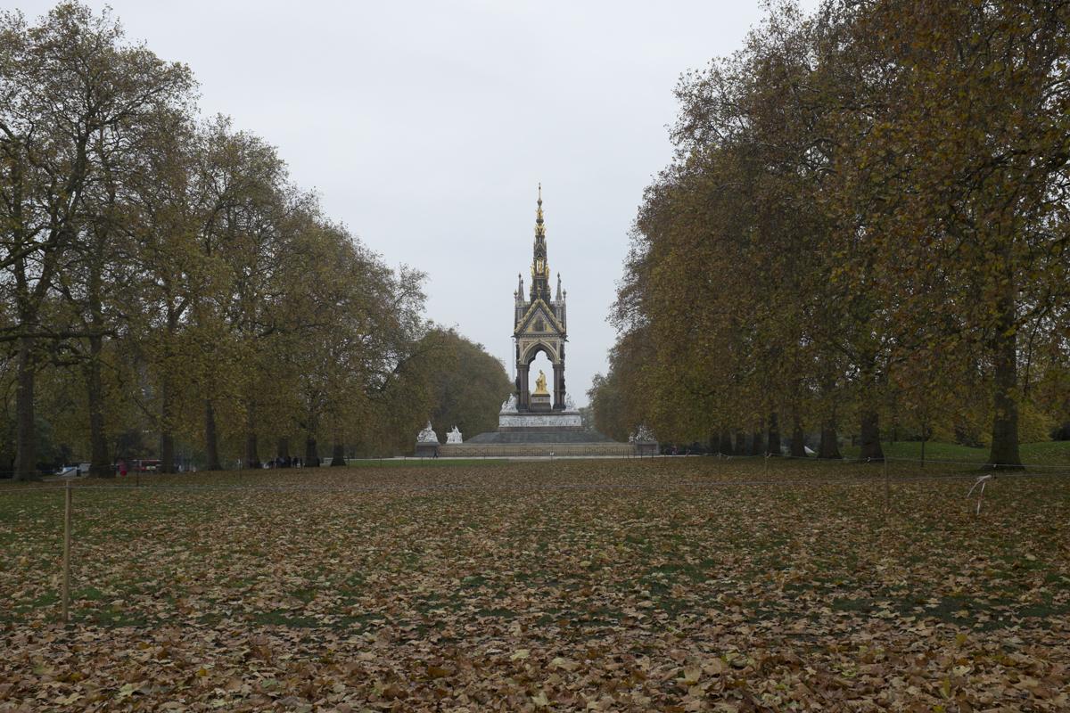 The Albert memorial on the way to Victoria Albert museum.