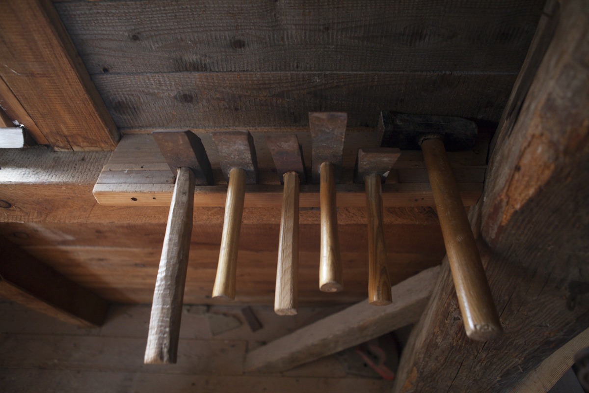 Tools used to sharpen the mill.
