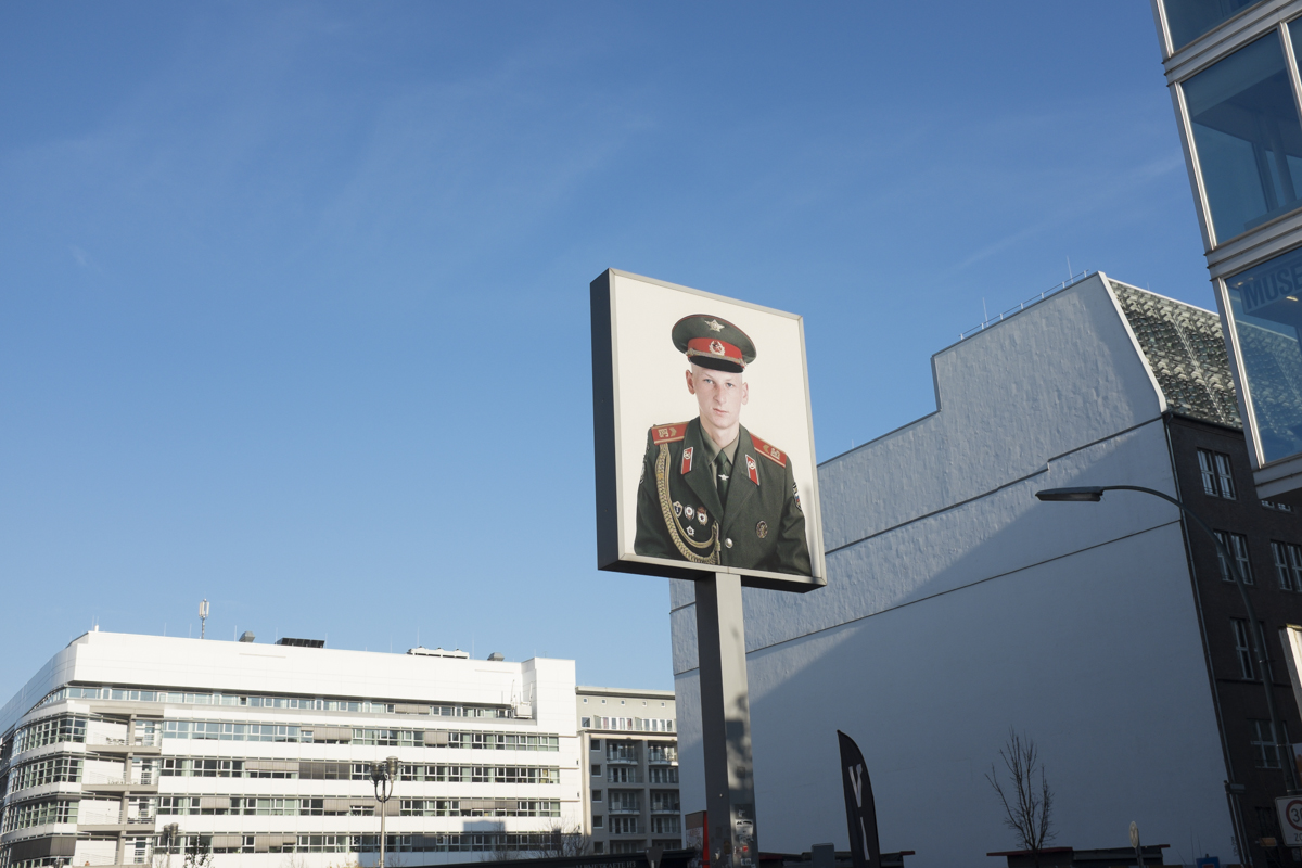 """The following day I went around Checkpoint Charlie. This is close to the center of the city """"Mitte"""" and nearby is the Wall and next to that is Martin Gropius Bau."""