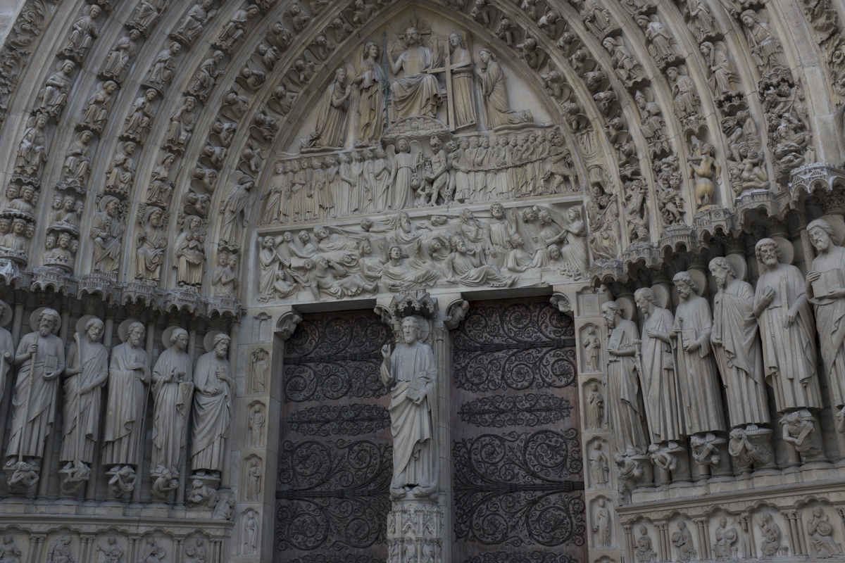 This is the facade of Notre Dame Cathedral.