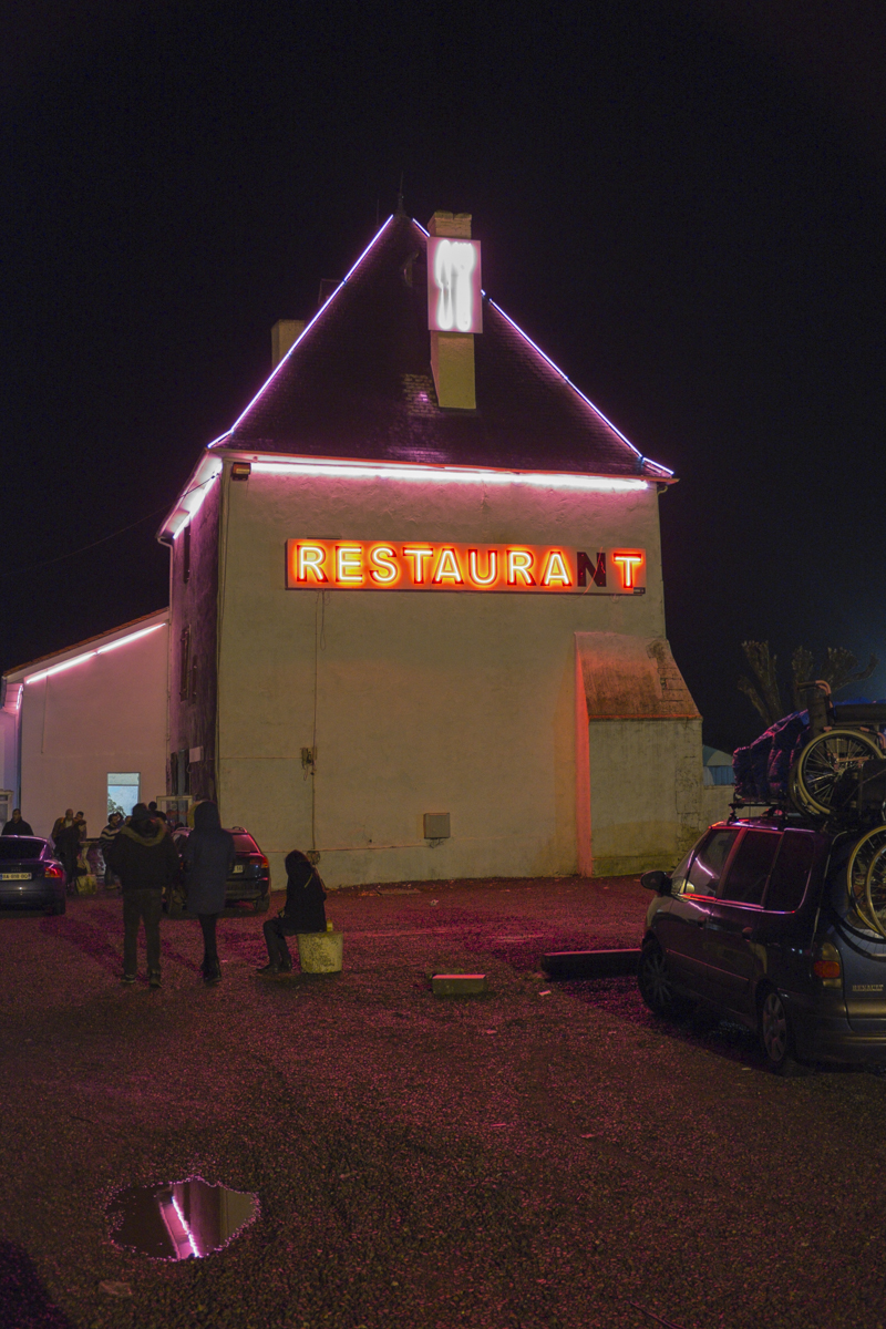 Some creeped out restaurant we stopped by.