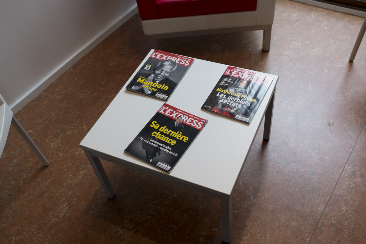 Magazines in the mediatheque.