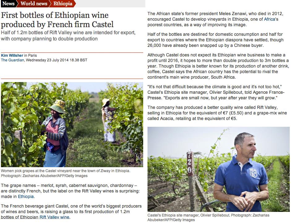 Castel Wine Production in Ethiopia