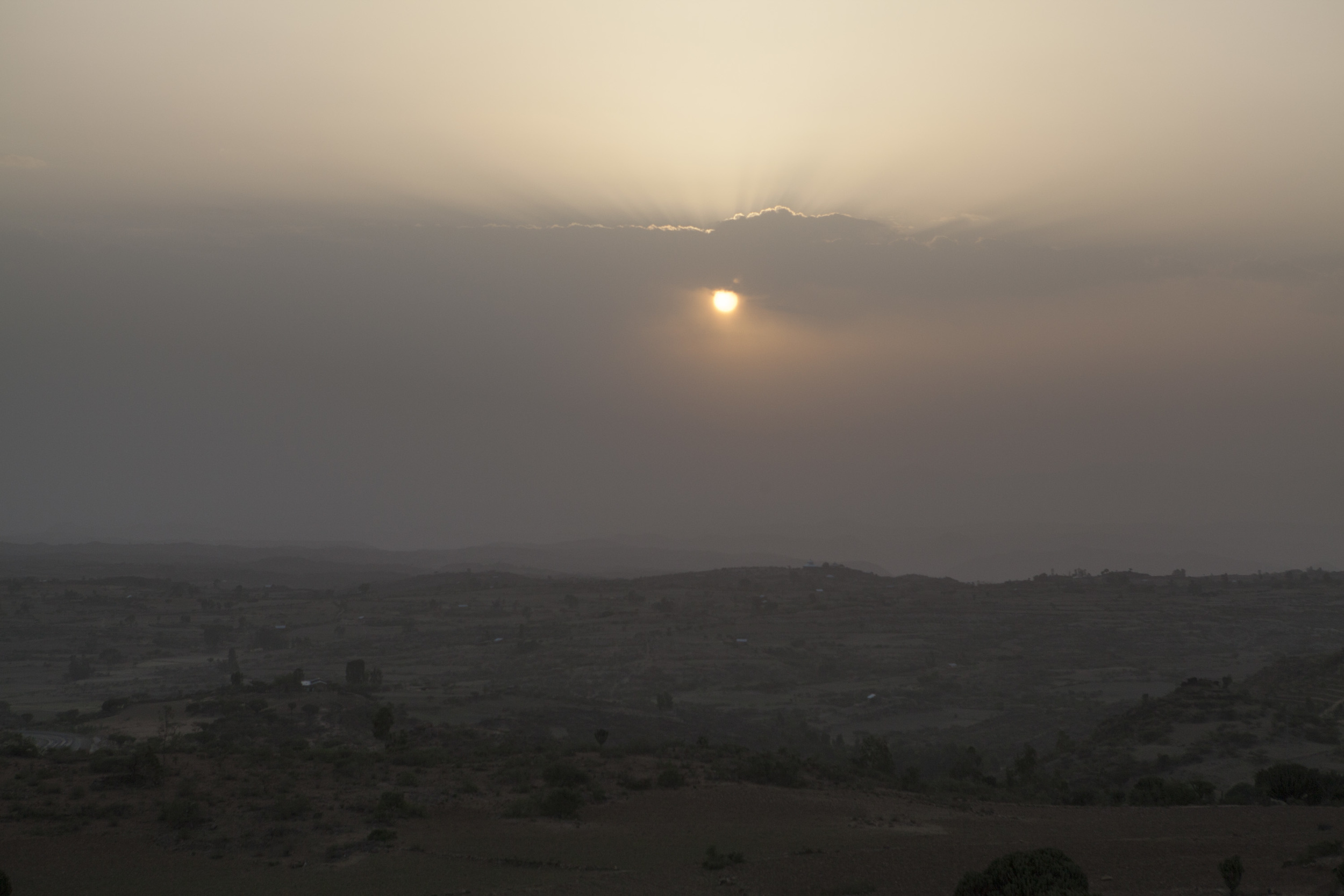 Obligatory sunset pic, a view from the Gheralta lodge where we stayed.