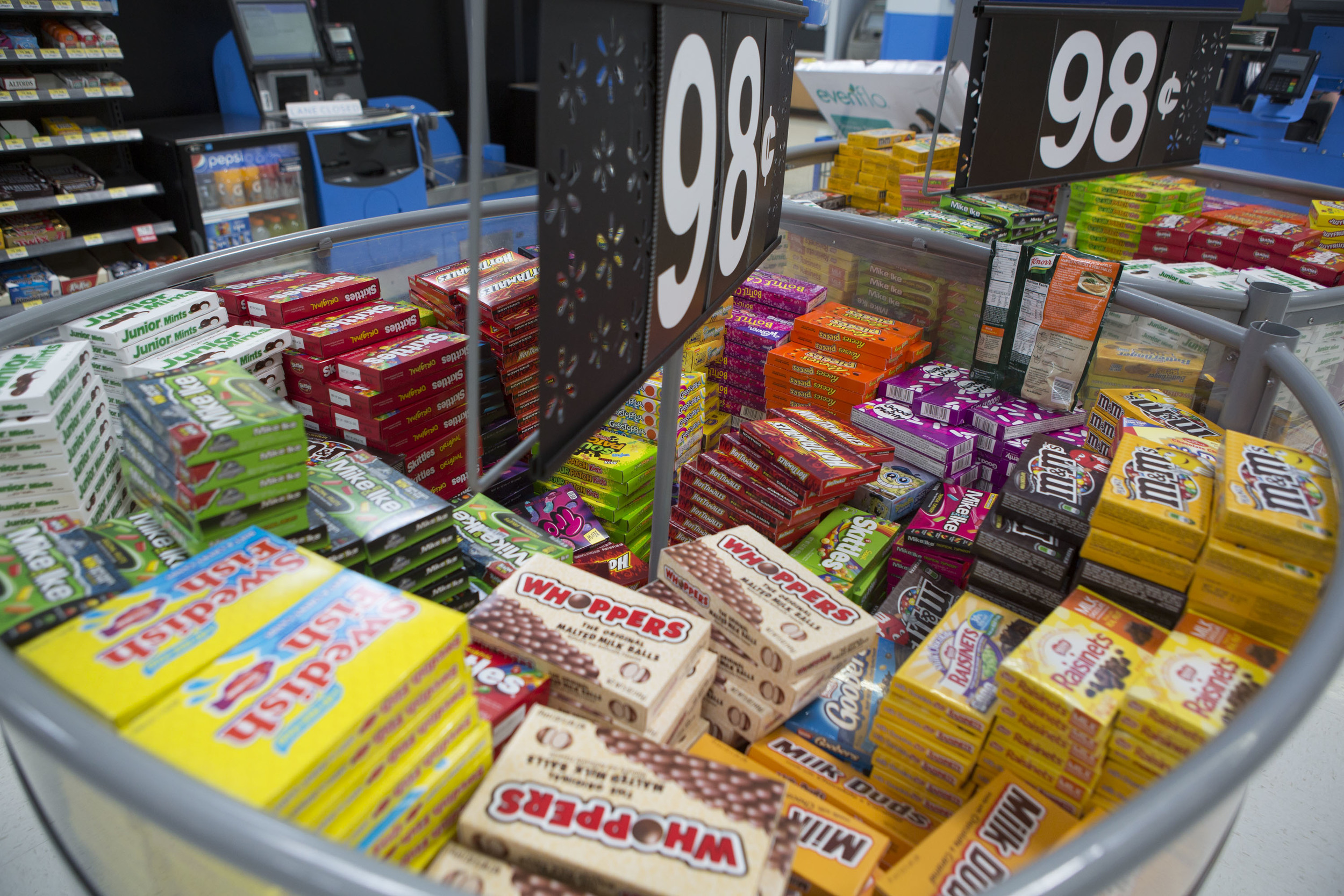 Could you ignore a bin of candy for $0.98?