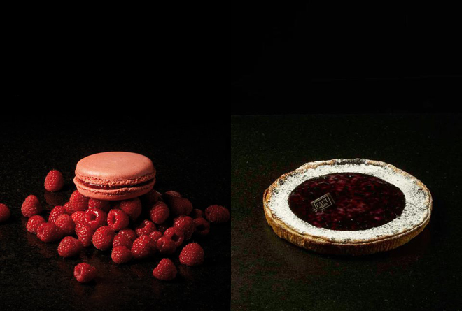 Macaron framboise - tarte aux cerises (a.k.a. cherry pie)