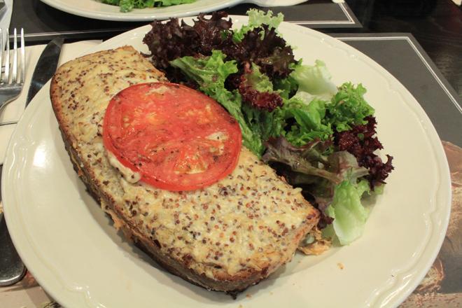 Salmon croque