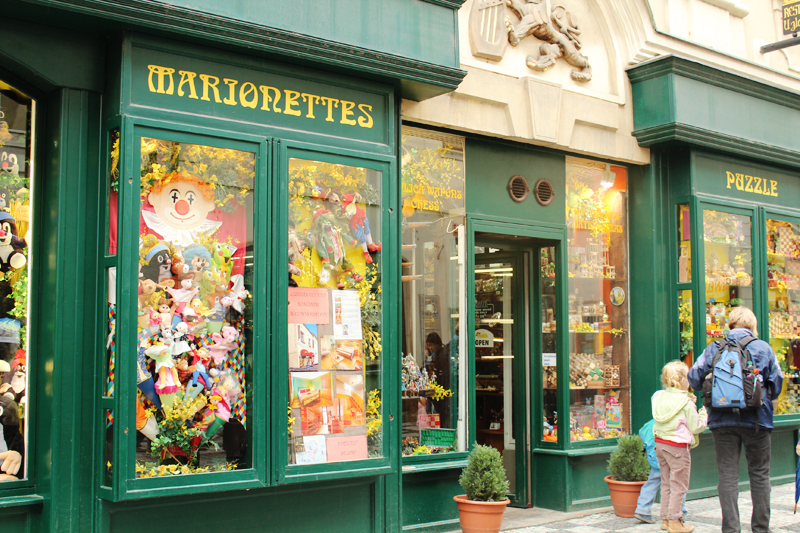a mariorettes shop - Prague