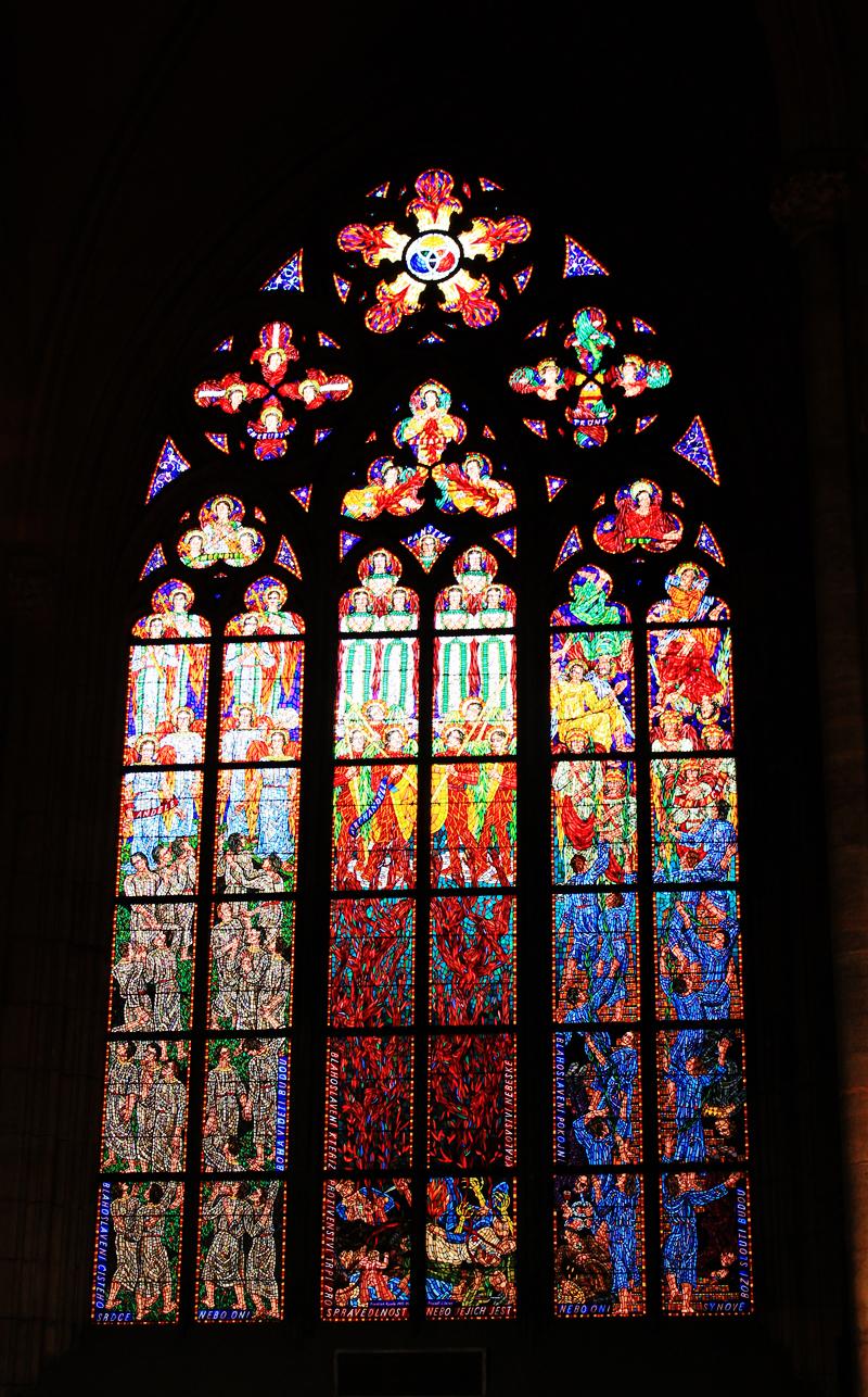 stained glass windows - Prague