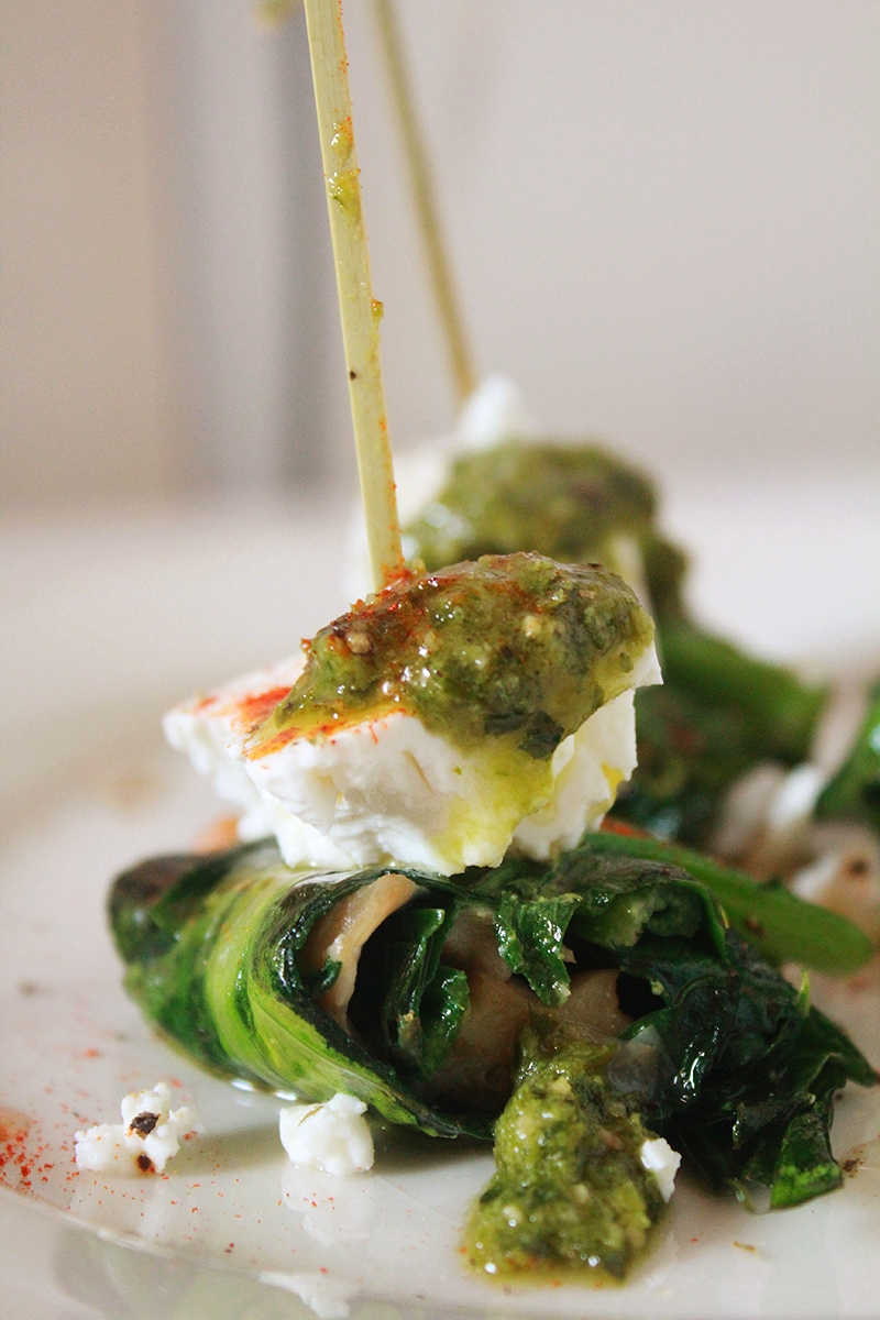 Saute Cabbage Wrapped Pleurotus Rolls with Feta & Pesto.jpg