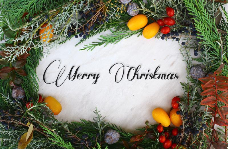 merry merry christmas wreath