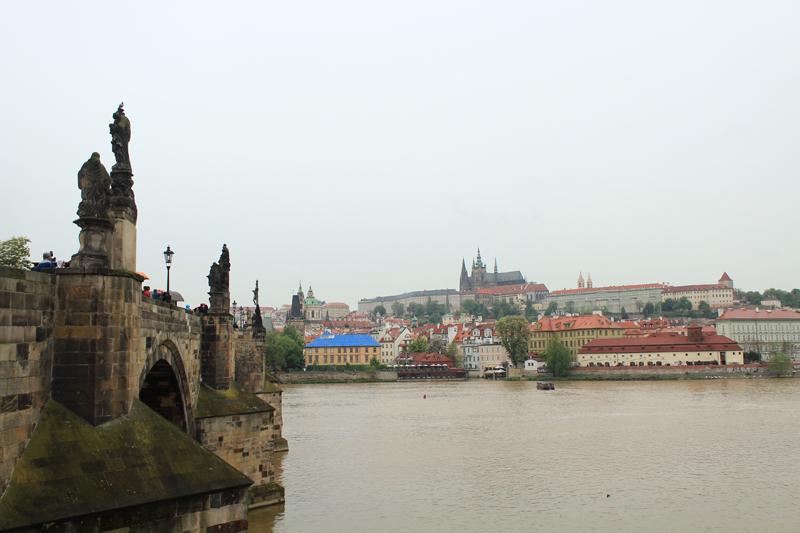 Charle's Bridge and palaces- Prague