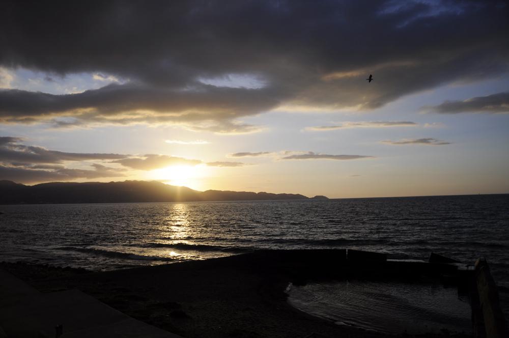 ηλιοβασίλεμα στην παραλιακή του Ηρακλείου