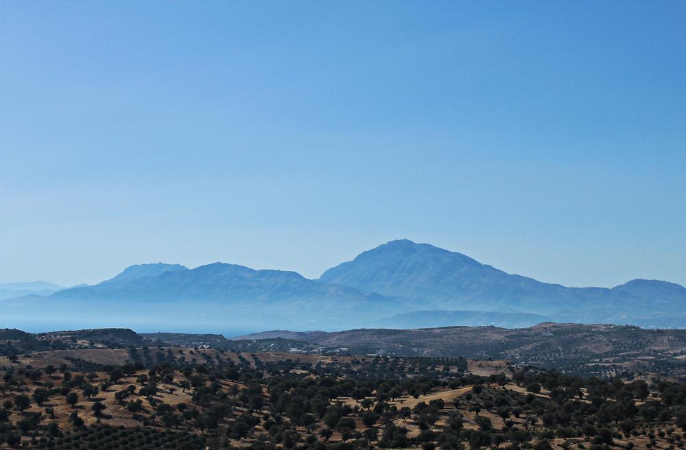 Camping at Agiofaraggo (South Crete, Greece) phaistos hills