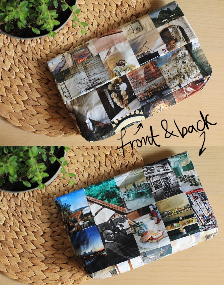 Φτιάξε ένα τσαντάκι από εικόνες περιοδικών 3