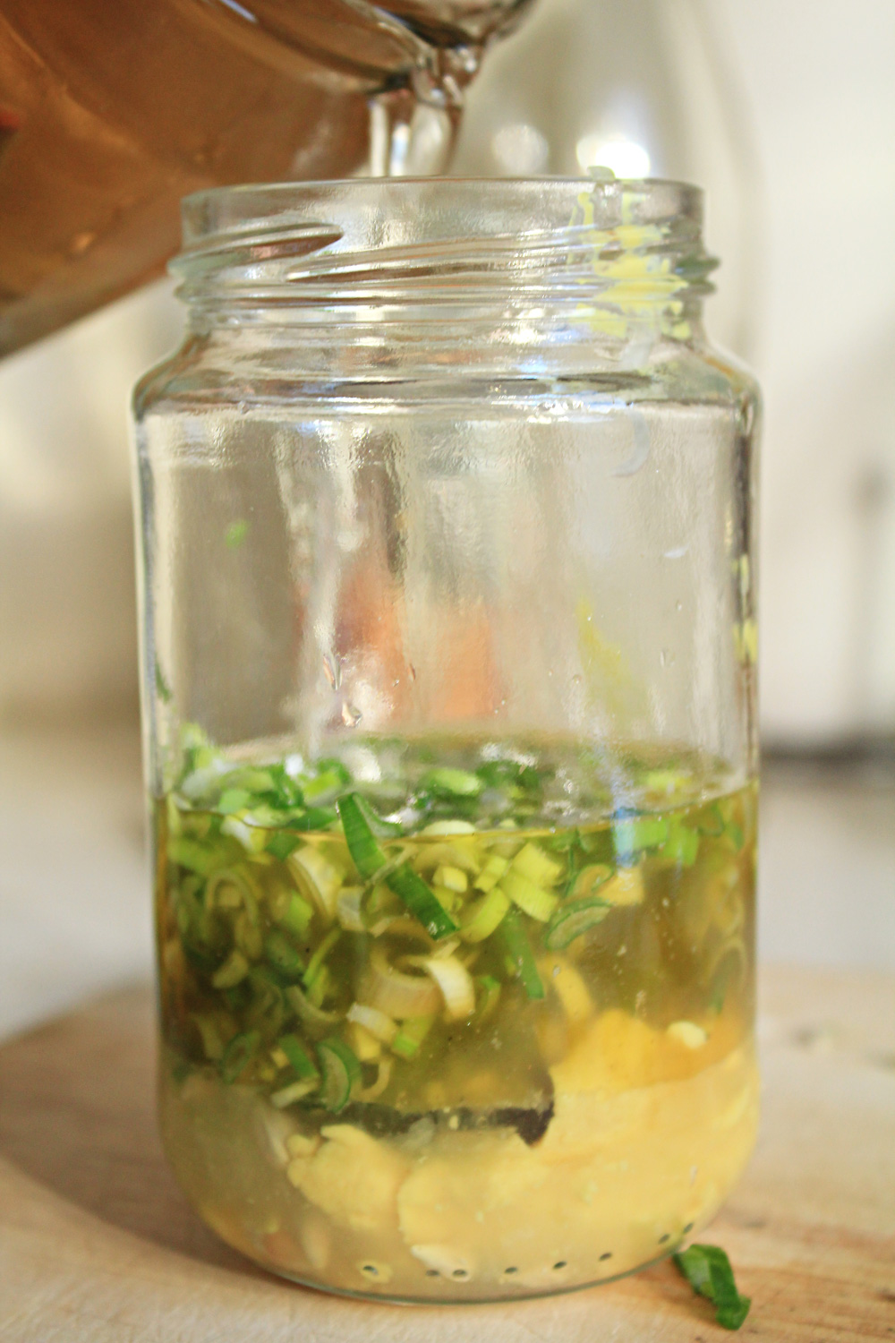 A salty and sour sauce for your boiled salads | from IN WHIRL OF INSPIRATION