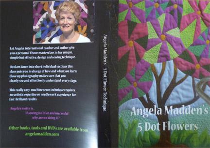 '5 Dot Flowers' raw edge appliqué design DVD by Angela Madden