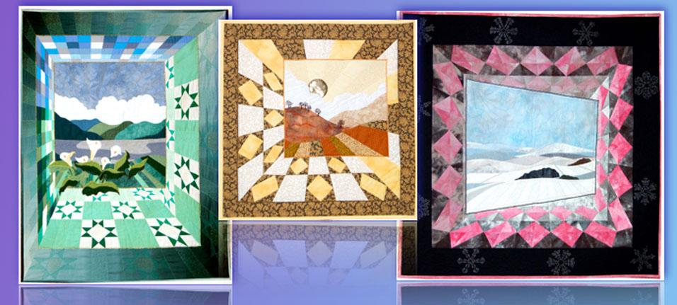 Landscape quilts, 3d. quilts, pictorial textile art