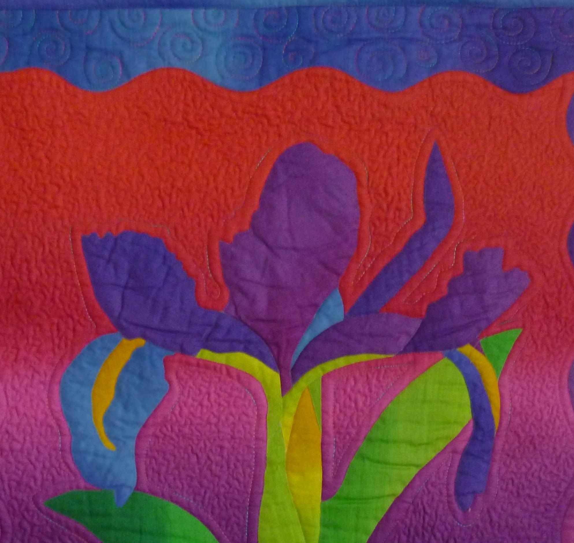 Beautiful Blooms, Floral applique Quilts.