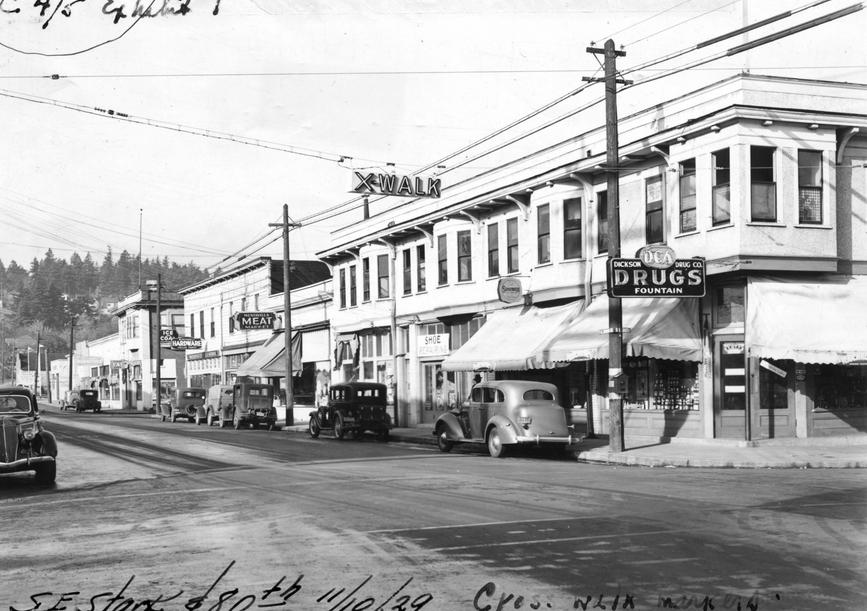 Corner of SE Stark and 80th in Montavilla, Circa Nov. 1939
