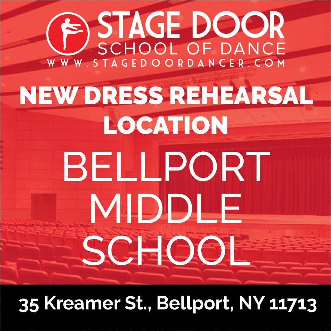 Stage Door - New Dress Rehearsal Location - Bellport Middle School.png