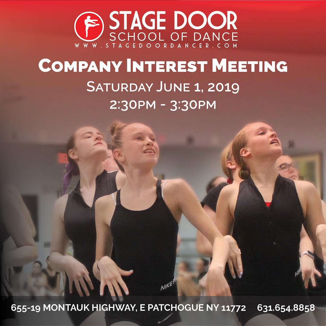 Stage Door - Company Interest Meeting 2019.png