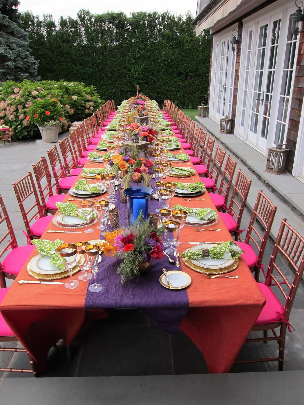 intimate moroccan dinner, southhampton