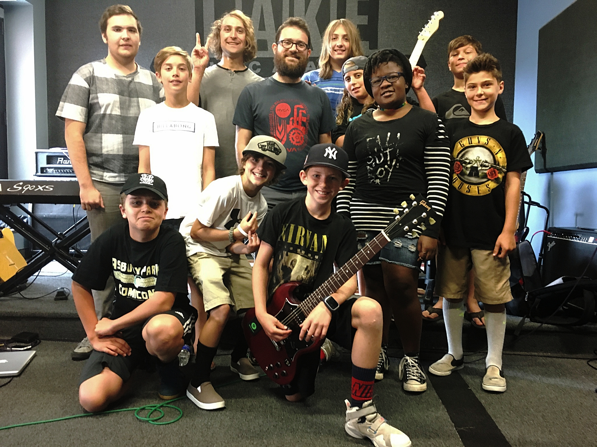 Bob Lanzetti, of Snarky Puppy, with our Guitar Week Camp. Summer 2017.