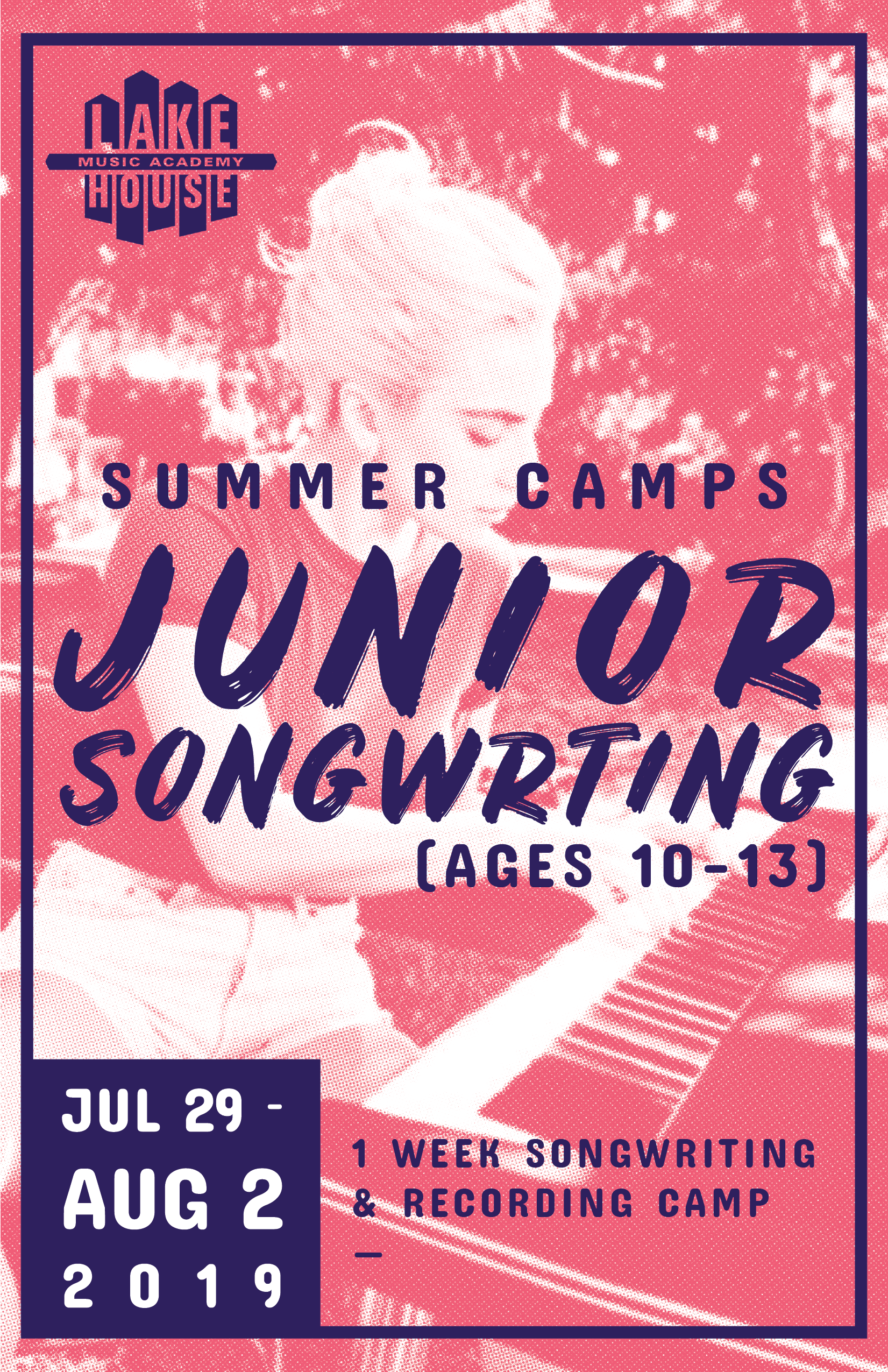 Jr Songwriting - July 29 - August 2 | (ages 10-13)