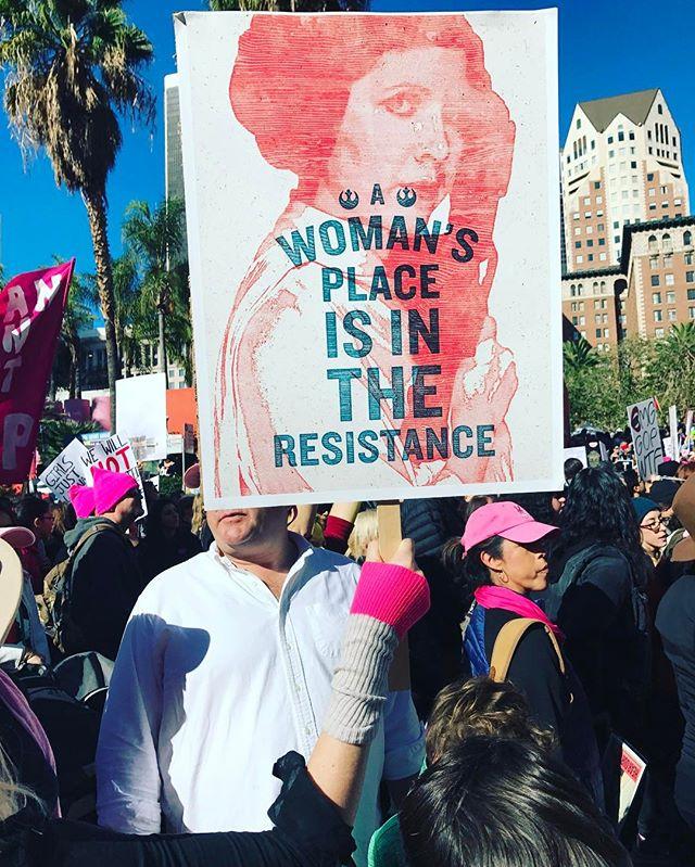 #RagCuffs representing at #womensmarchlosangeles
