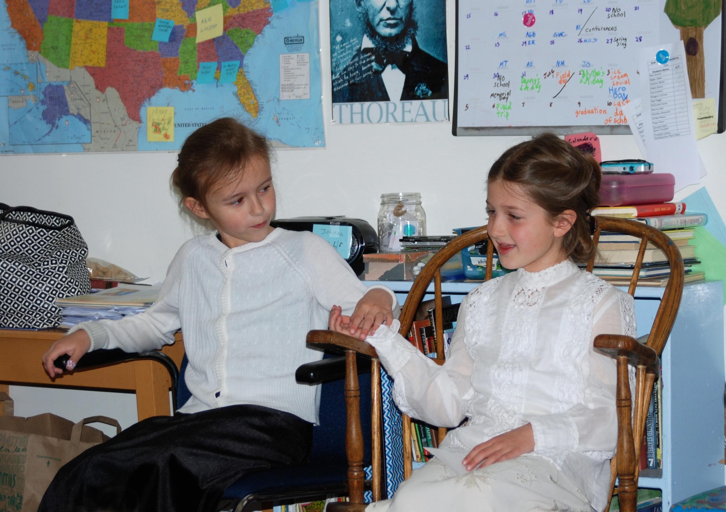 Annie Sullivan with Helen Keller