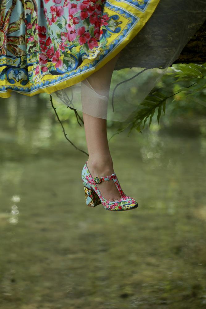 Freya in Dolce & Gabbana and Madam Virtue & Co.