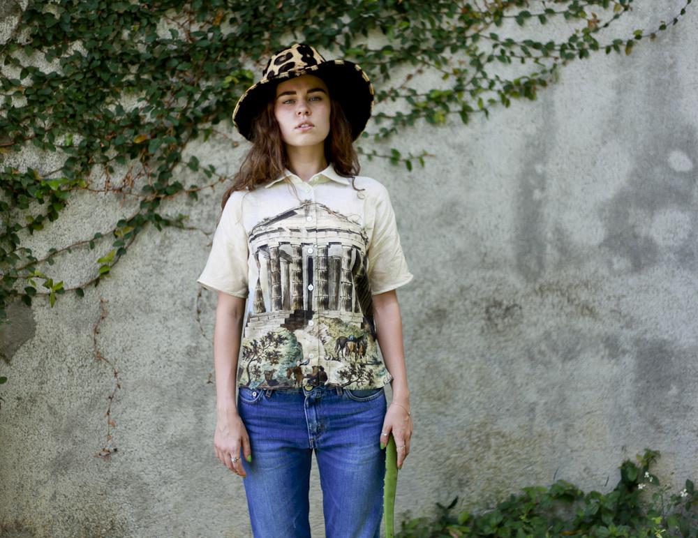 Freya in Dolce & Gabbana, Acne, Catbird and vintage