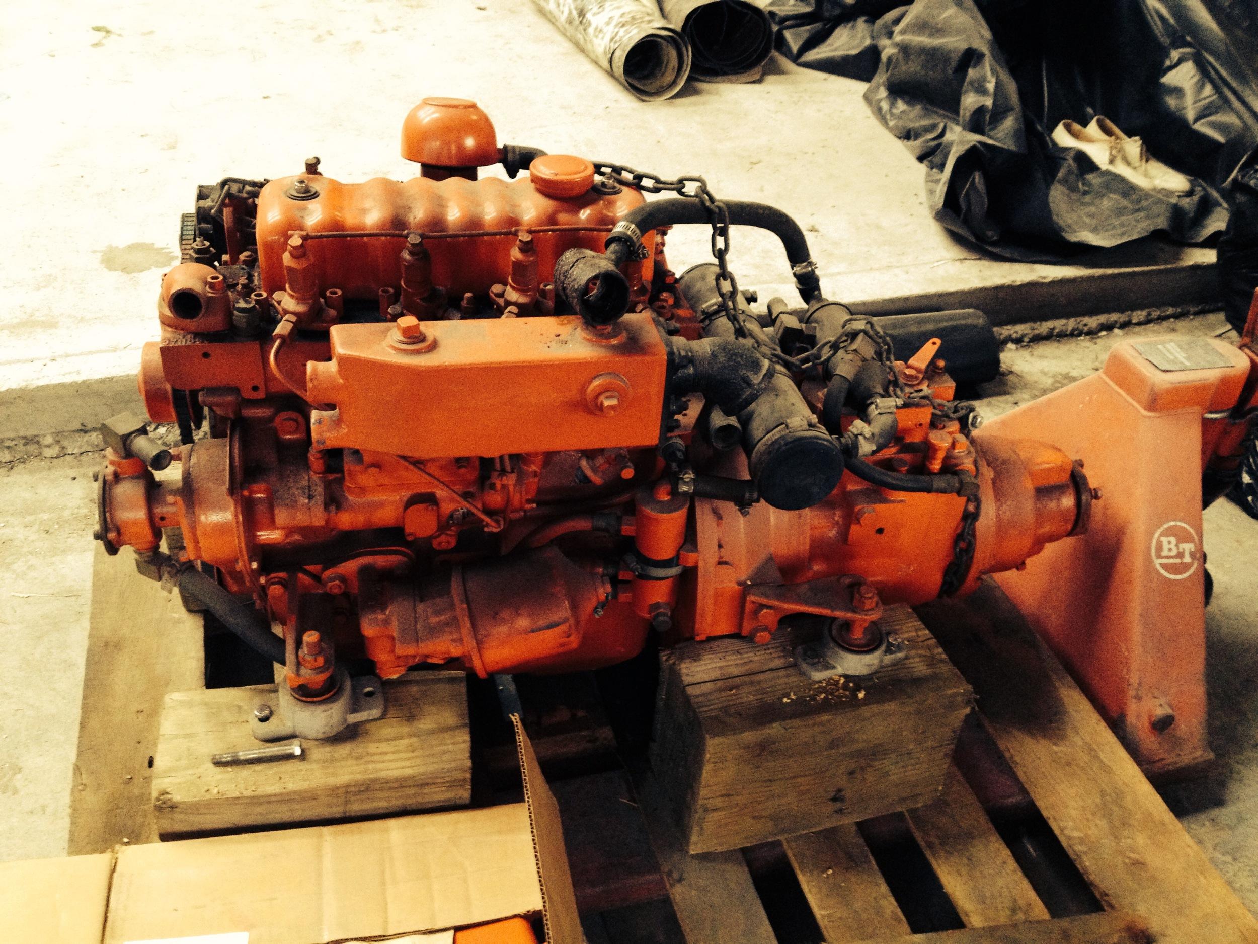 The next engine, a Westerbeke 4-107 diesel