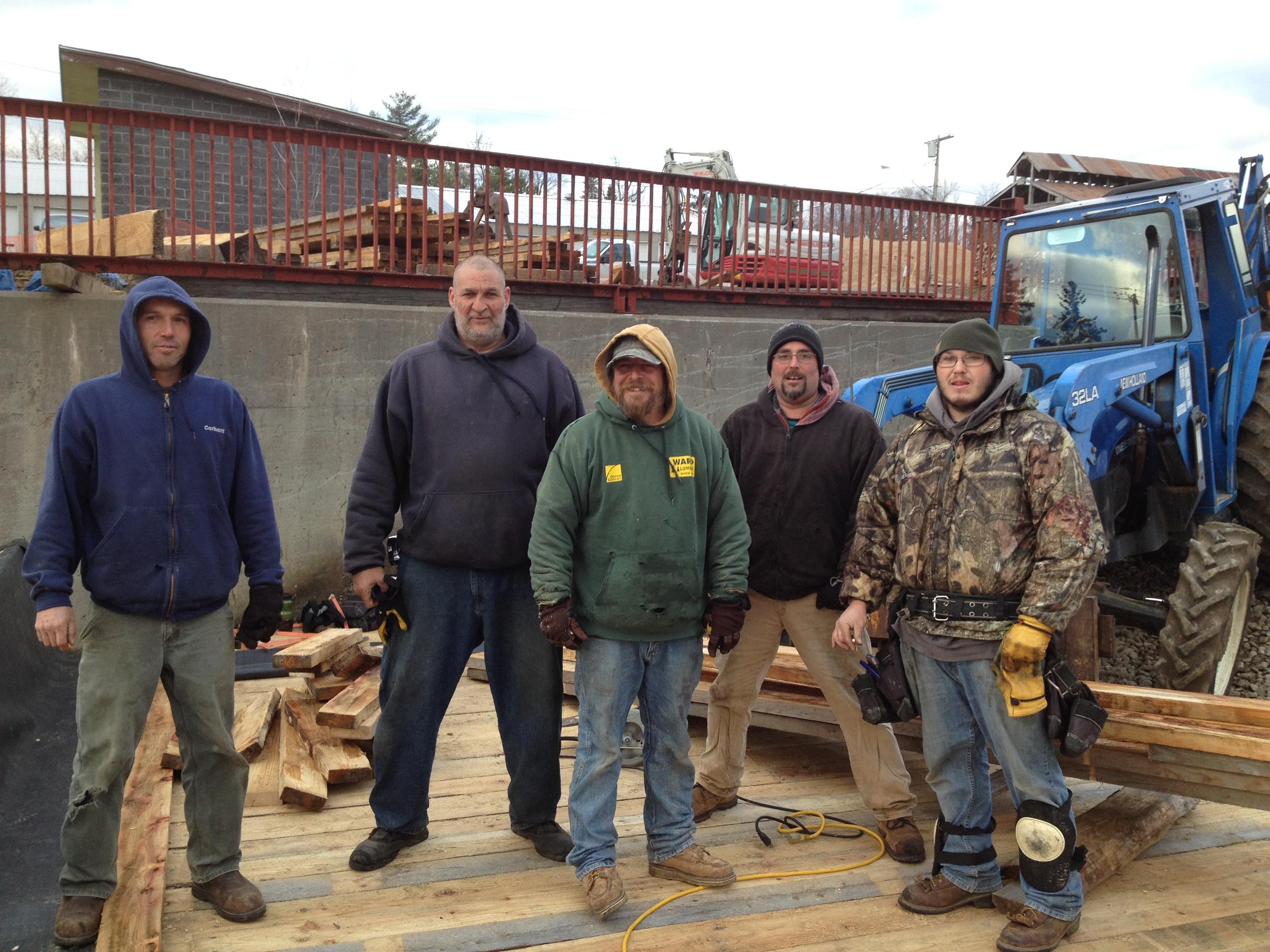 Our crew: Bob, Dar, Rodney, Jack, Mike.