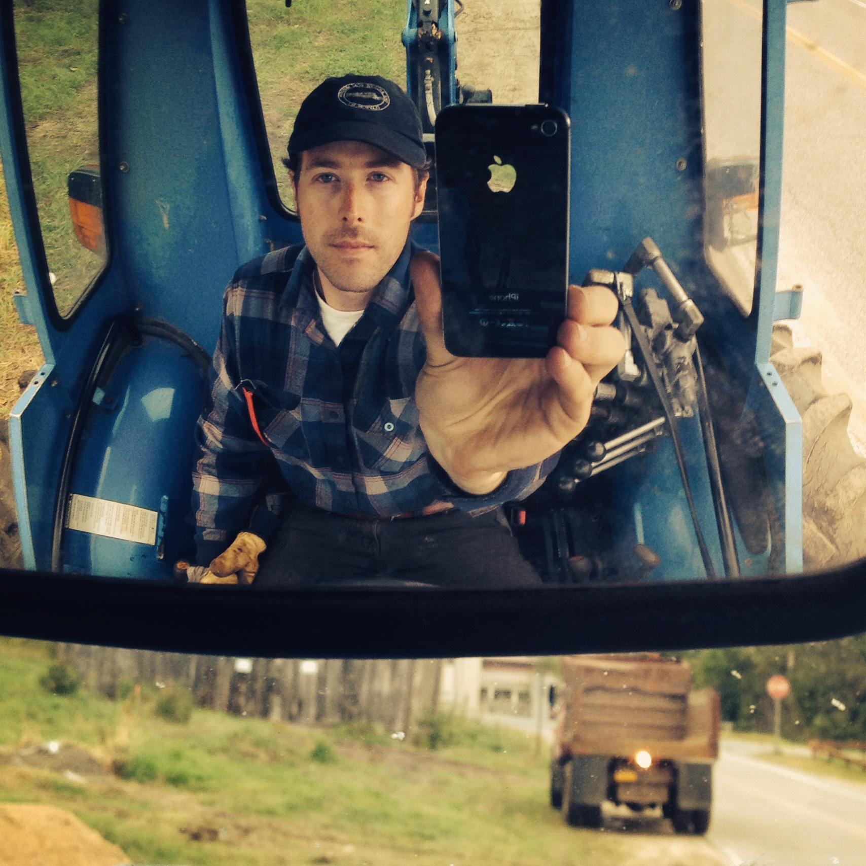 I spent a lot of time driving the tractor.