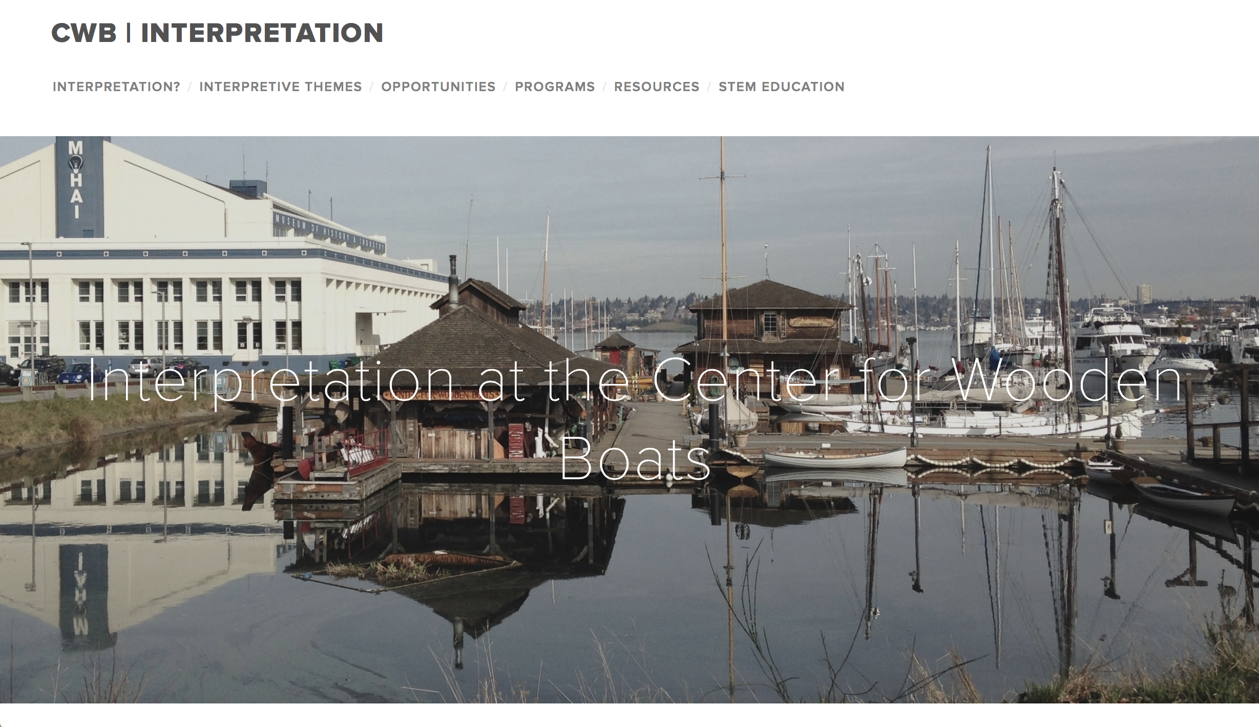 Interpretive Plan for Seattle's Center for Wooden Boats.