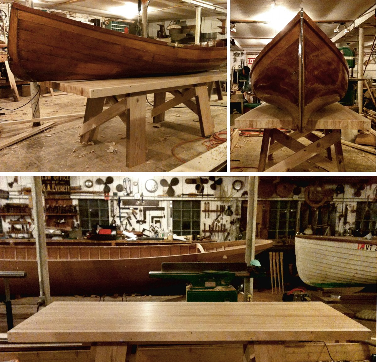 Boatshop dining table, inspired by the simple architecture of sawhorses.