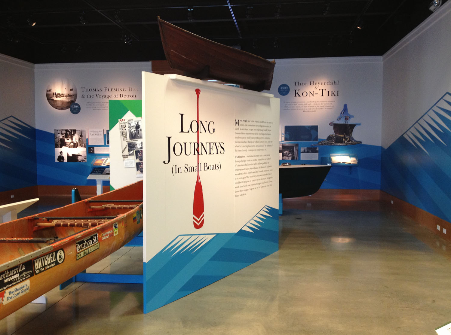 Long Journeys in Small Boats, Exhibition at the Antique Boat Museum