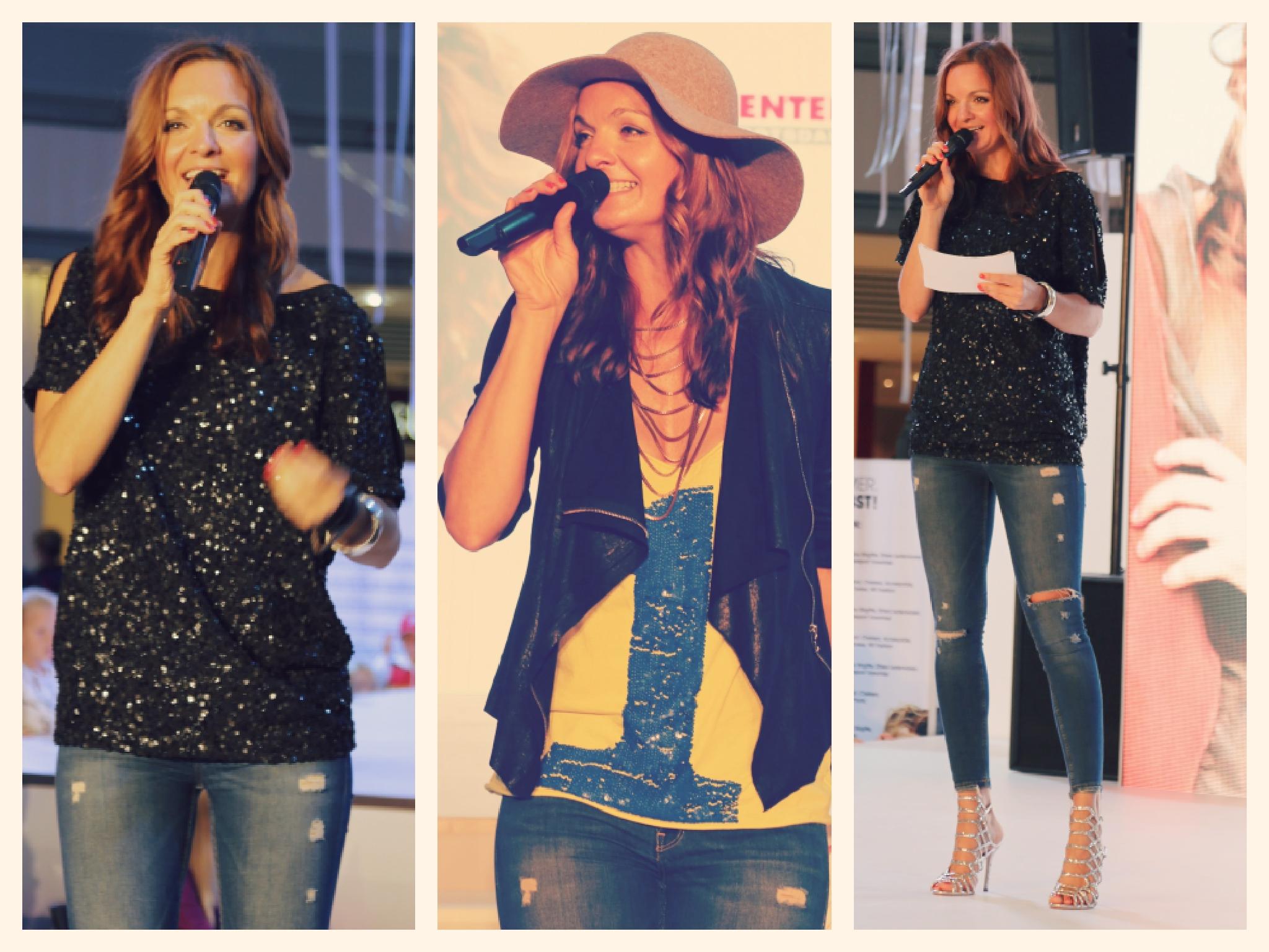 Moderatorin und Sängerin Iza Höll aus Berlin beim Fashion Event