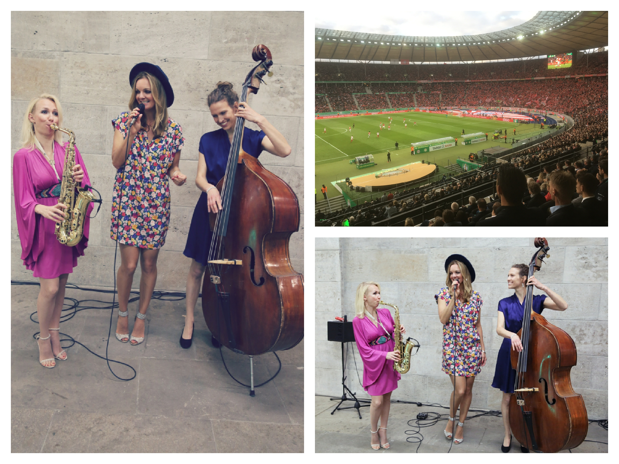 Ladies Band Sunset Orange aus Berlin beim DFB Pokalfinale im Olympiastadion VIP Lounge.