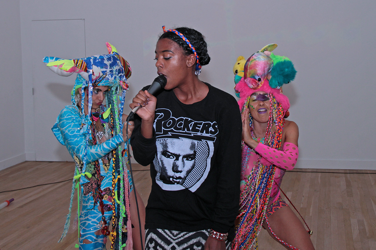 """X Marks the Spot"" performance at the CUE Art Foundation in collaboration with female MC XHOSA"