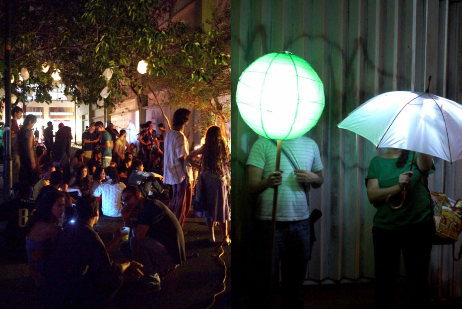 Iluminacción. Self organized community light festival to bring awareness of Río Piedra's poorly lit streets