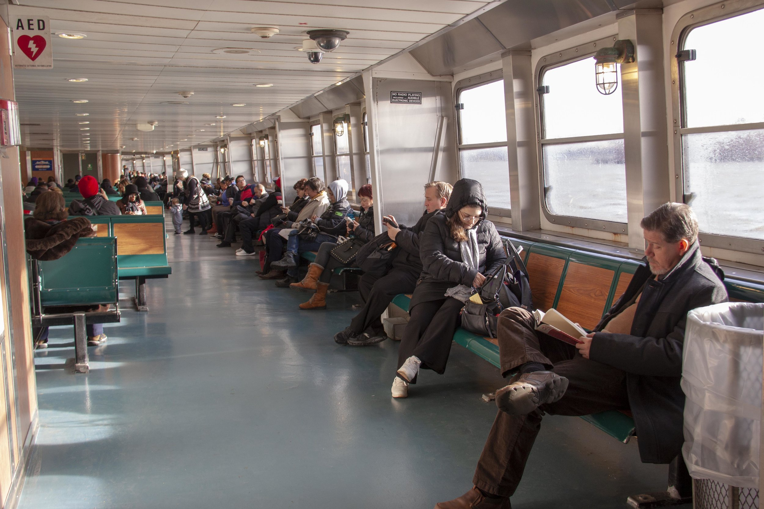 Ferry commuters, PHOTO CREDIT: Neshi Galindo