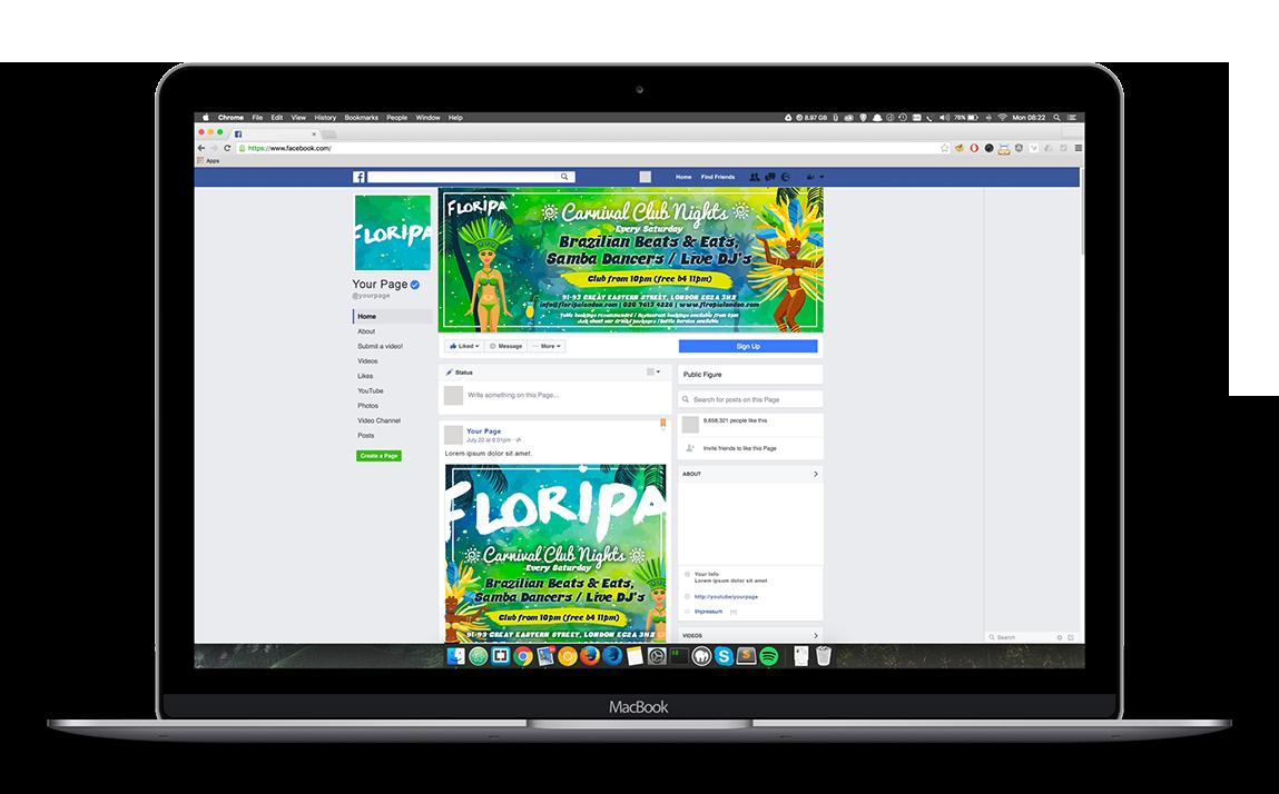 Floripa's Facebook page