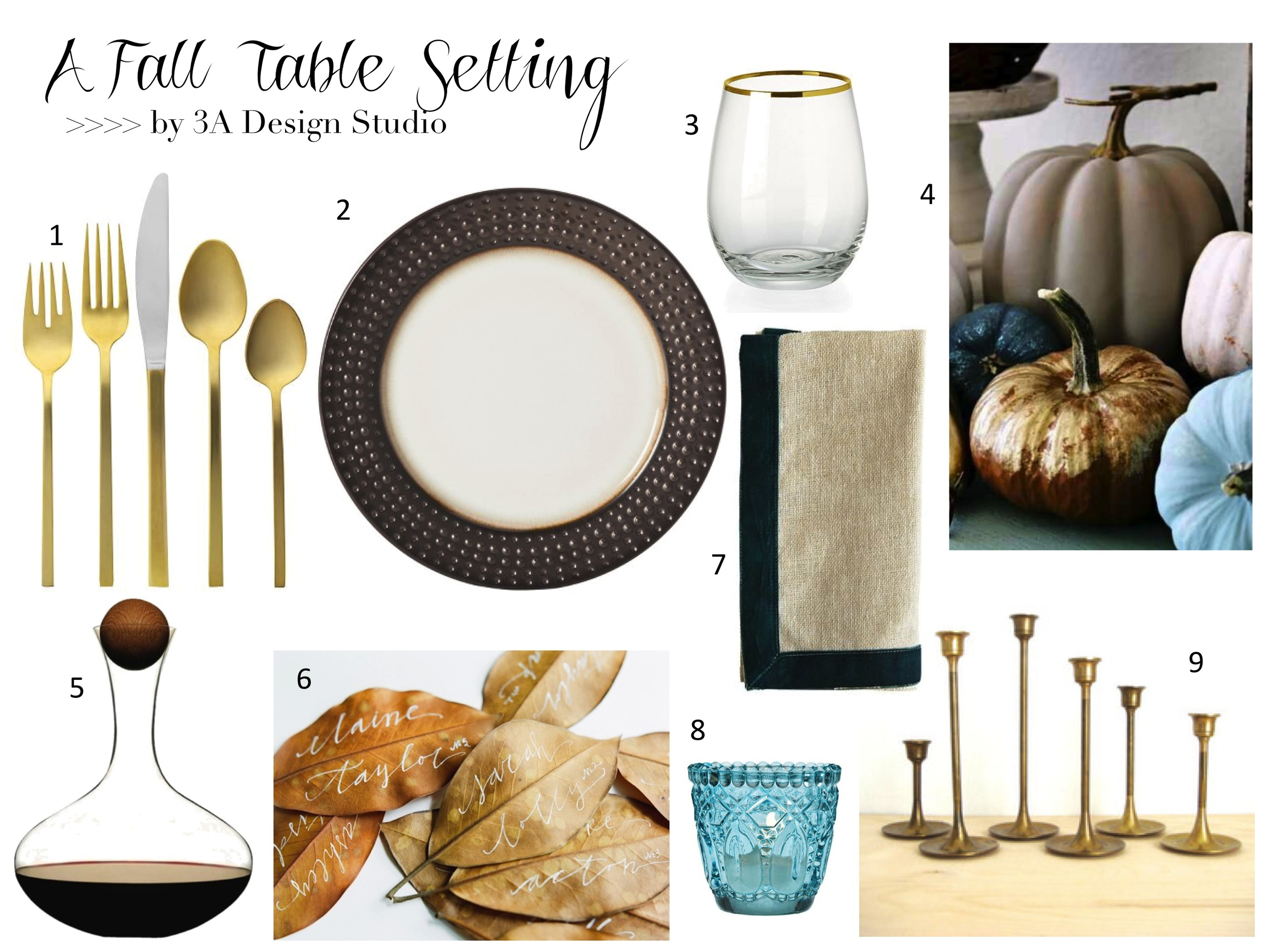 Blue Gold Fall Table Setting 3A Design Studio.jpg
