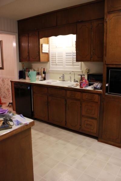 70s kitchen before