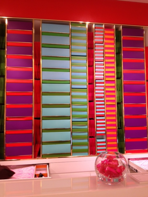I love Kate Spade's color combos. Even the boxes behind the check-out were beautifully arranged.