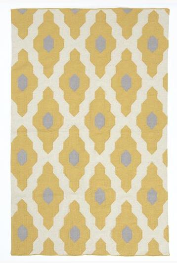 Bazaar Wool Dhurrie in Ochre - 8x10 $399